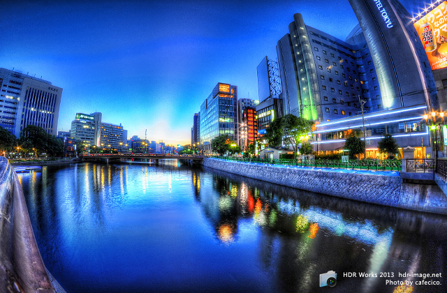 HDR-博多の夜景