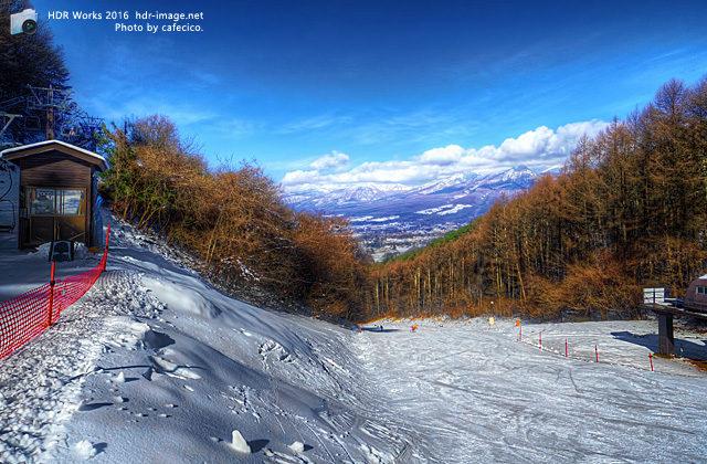 hdr-スキー場