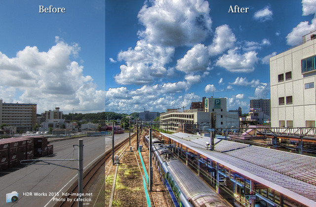 HDR土浦駅Before after