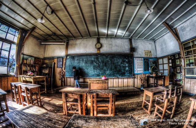 hdr-旧上岡小学校